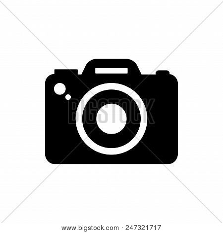 Photo Camera Vector Icon Flat Style Illustration For Web, Mobile, Logo, Application And Graphic Desi