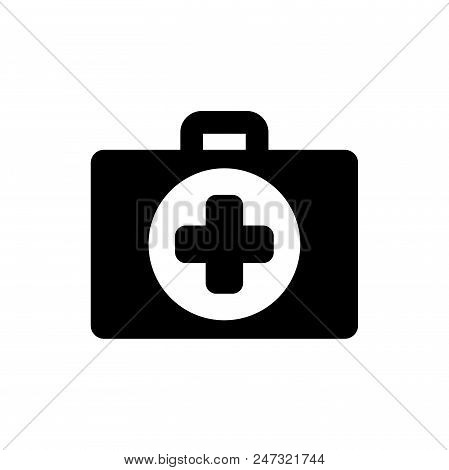 First Aid Vector Icon Flat Style Illustration For Web, Mobile, Logo, Application And Graphic Design.