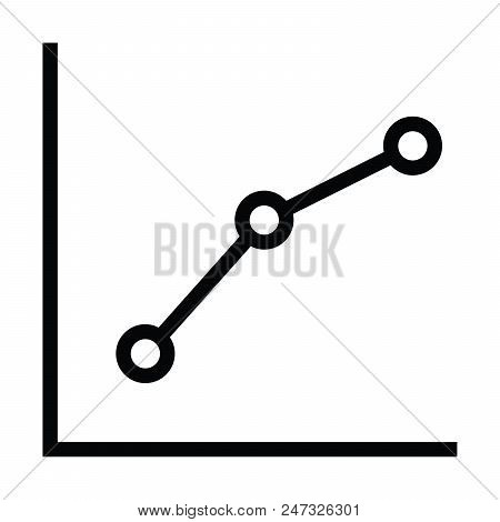 Graph Icon With Dot Connect Outline Style Vector Illustration