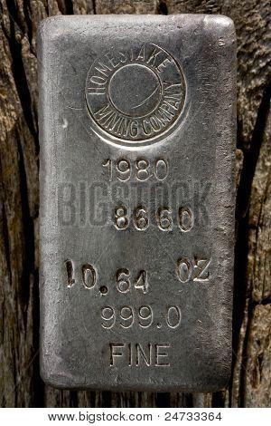 Homestake Mining Co. Silver Bullion Bar