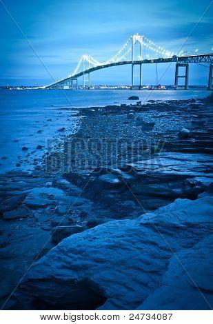 bridge crossing over bay