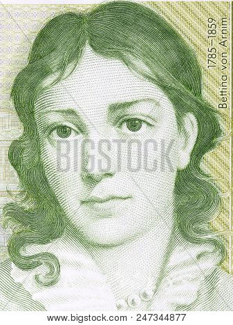 Bettina von Arnim portrait from Deutsche Mark poster