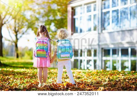 Kids Go Back To School. Child At Kindergarten.