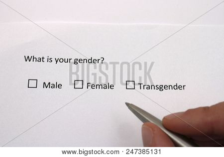 Male, Female Or Transgender? Gender Identity In Survey Interview Questionnaire.