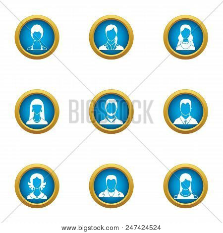 Personnel Icons Set. Flat Set Of 9 Personnel Vector Icons For Web Isolated On White Background