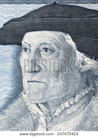 Sebastian Munster a portrait from Deutsche Mark poster