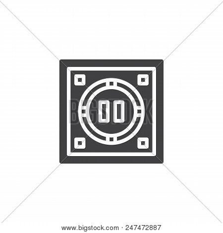 Japanese Dohyo Vector Icon. Filled Flat Sign For Mobile Concept And Web Design. Sumo Arena Top View