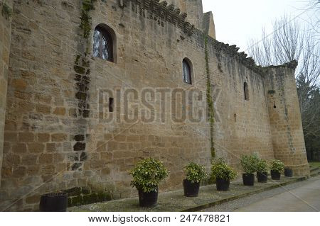 Bottom Shot Of Sajazarra Castle Spectacularly Preserved Side Shot. Architecture, Art, History, Trave