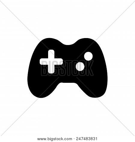 Game Pad Vector Icon Flat Style Illustration For Web, Mobile, Logo, Application And Graphic Design.