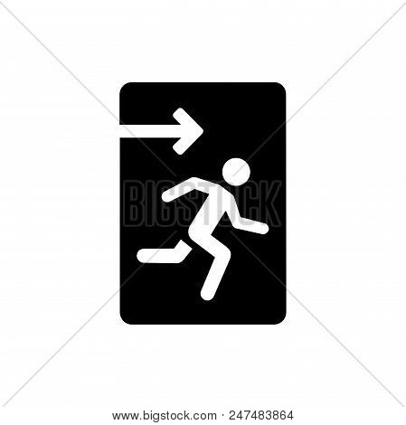 Emergency Exit Vector Icon Flat Style Illustration For Web, Mobile, Logo, Application And Graphic De
