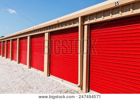Numbered Self Storage And Mini Storage Garage Units Iii