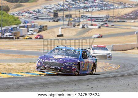 June 24, 2018 - Sonoma, California , USA: Matt DiBenedetto (32) Races through turn ten at the TOYOTA/SAVE MART 350 at Sonoma Raceway in Sonoma, California .