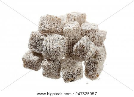 Stack of Turkish Delight Isolated