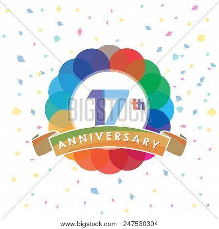 The Seventeenth Anniversary Logo Celebrations Design Element. Corporate Branding Identity Design Tem