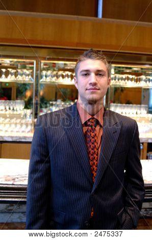Handome Man In Cocktail Bar