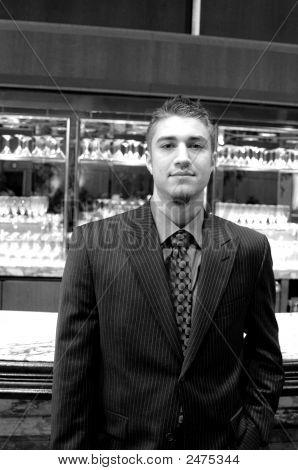 Man In Bar Lounge