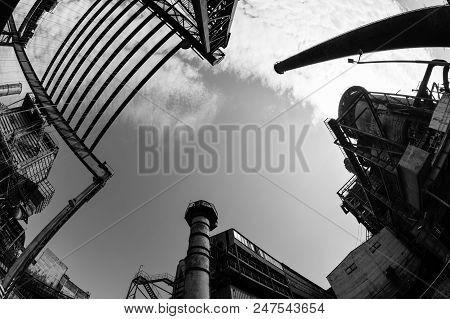 Abandoned Buildings In Dolni Vitkovice Industrial Area, Ostrava, Czech Republic