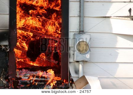 House Fire With Meter Box