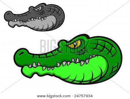Green Cartoon Crocodile