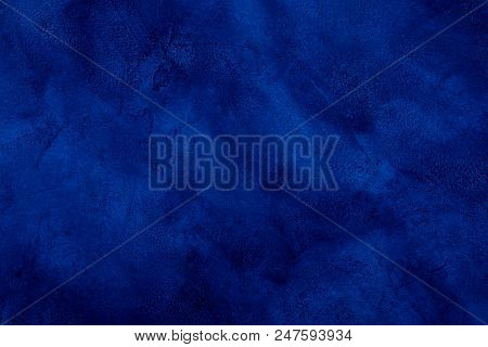 Dark Blue Marble Or Cracked Concrete Background (as An Abstract Mystical Background Or Marble Or Con