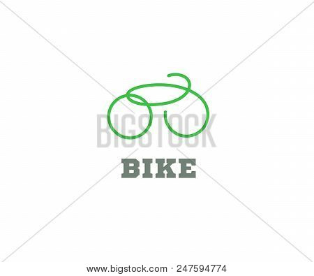 Bike Logo Icon Design. Bicycle Shop Badge Or Label. Bike Silhouette Isolated Vector. Repair Service