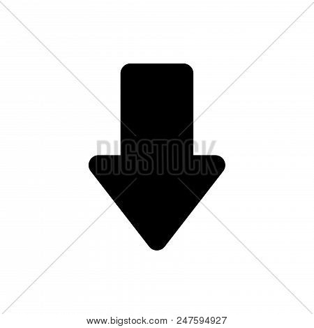 Side Down Vector Icon Flat Style Illustration For Web, Mobile, Logo, Application And Graphic Design.