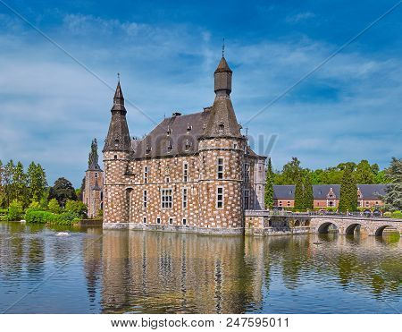 The Ancient Castle Of Jehay In Belgium, Near Liege
