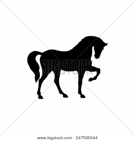 Horse Vector Icon Flat Style Illustration For Web, Mobile, Logo, Application And Graphic Design. Hor