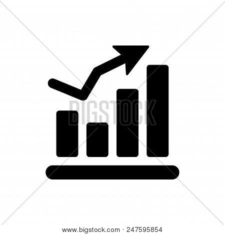 Statistics Vector Icon Flat Style Illustration For Web, Mobile, Logo, Application And Graphic Design