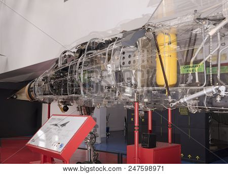 Le Bourget, Paris, France- May 04,2017: Dassault Mirage F1c (1973) In The Museum Of Astronautics And