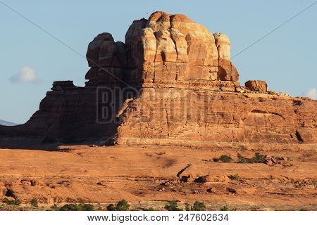 Red Rock Formations And Dramatic Landscapes Near Moab Utah