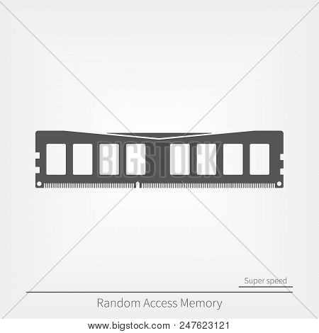 Speedy Ram Memory Flat Icon. Fast Gamer Choice