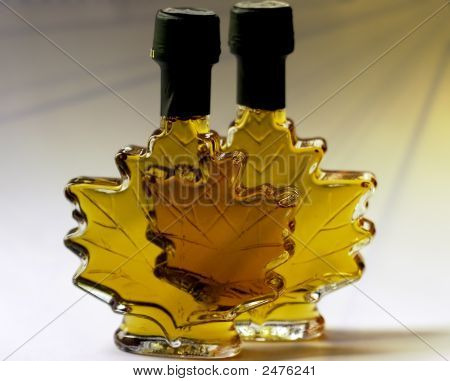 Fancy Bottle Of Farm Made Maple Syrup