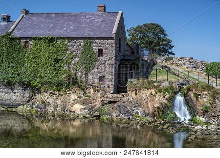 A View Of Annalongs Corn Mill And A Little Waterfall