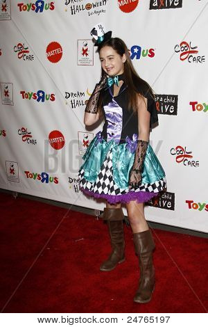 LOS ANGELES - OCT 29:  Mary Mouser arriving at the 18th Annual 'Dream Halloween Los Angeles' at Barker Hanger on October 29, 2011 in Santa Monica, CA
