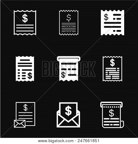 Invoice Icon Vector, Payment And Bill Invoice, Order Symbol Concept
