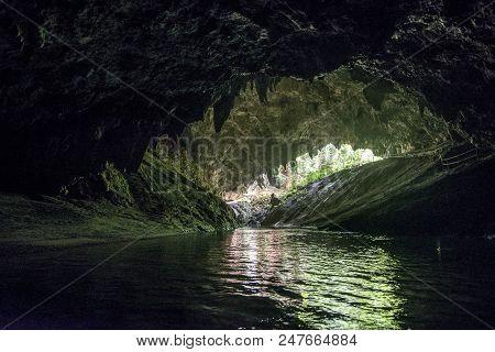 Thai Cave Tham Luang Cave At Doi Nang Non Mountain In Mae Sai ,chiangrai,thailand.tham Luang Is A Ca