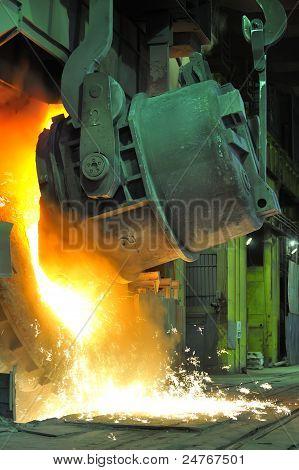 Pouring of liquid metal