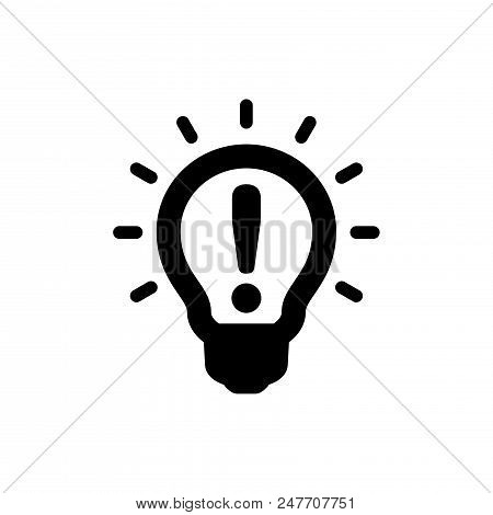 Light Bulb Idea Vector Icon Flat Style Illustration For Web, Mobile, Logo, Application And Graphic D