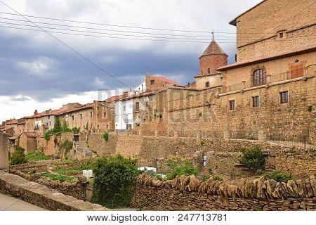 Village Of La Iglesuela Del Cid, Maestrazgo, Teruel Province, Aragon, Spain