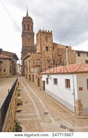 Village Of La Iglesuela Del Cid, Maestrazgo, Argon, Spain