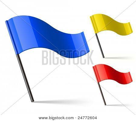 Flag Icons. Vector illustration