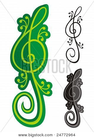 Lizards Treble Clef