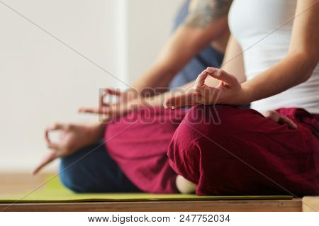 Young man practicing yoga. Yoga. Yoga Instructor