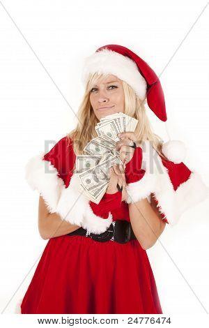 Mrs Santa Money Smirk