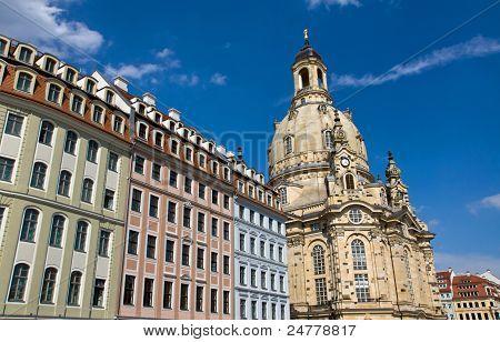 Beautiful houses around the Frauenkirche