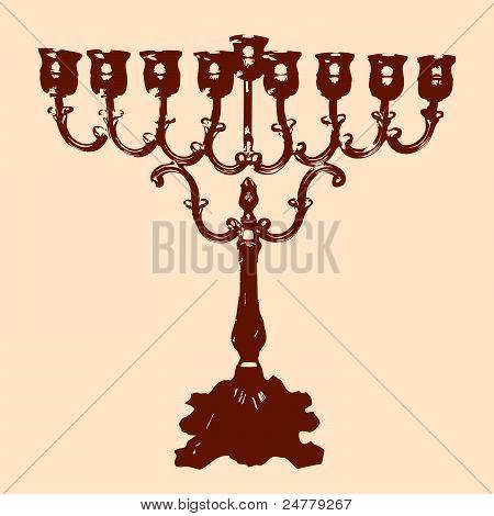 Vector of a Channukah Menorah