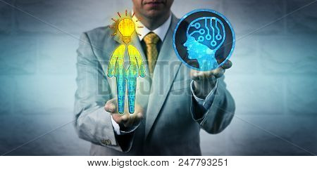 Unrecognizable Hr Manager Using Artificial Intelligence To Collect Data On The Creative Process And