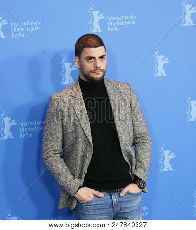 Milan Maric poses at the 'Dovlatov' photo call during the 68th Berlinale International Film Festival Berlin at Grand Hyatt Hotel on February 17, 2018 in Berlin, Germany.
