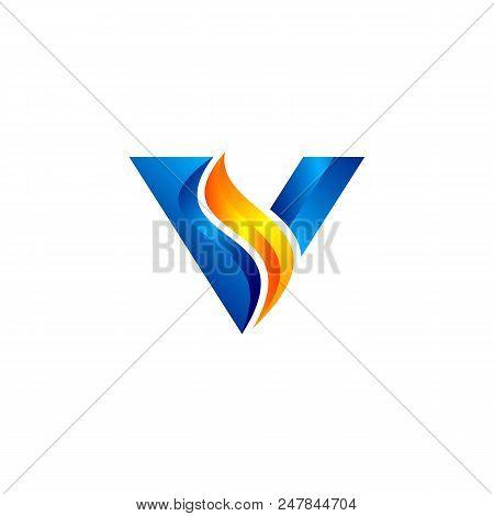 Letter vs 3d logo vector photo free trial bigstock letter vs 3d logo abstract business logo design template modern edited vs logo fbccfo Images